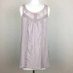 Maurices Tank Top Blouse Crochet Keyhole S